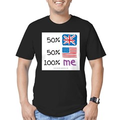 UK/USA Flag Design Men's Fitted T-Shirt (dark)