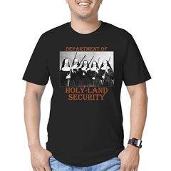 Holy-Land Security Men's Fitted T-Shirt (dark)