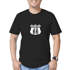 Santa Monica Route 66 Men's Fitted T-Shirt (dark)