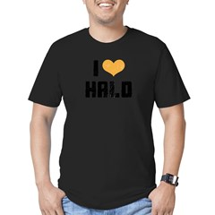 I Heart Halo Men's Fitted T-Shirt (dark)