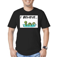 I Believe in the Loch Ness Mo Men's Fitted T-Shirt (dark)