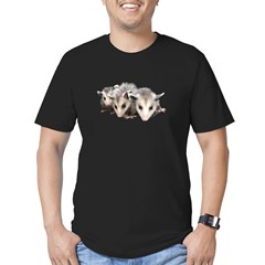 opossum Men's Fitted T-Shirt (dark)