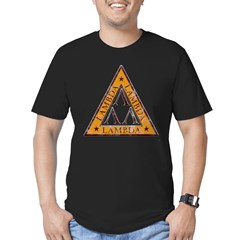 Revenge Of The Nerds - Lambda Lambda Lambda Men's Fitted T-Shirt (dark)