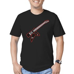Electric Guitar K Custom Initial Men's Fitted T-Shirt (dark)