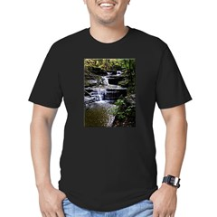 Buttermilk Falls Men's Fitted T-Shirt (dark)