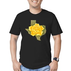 Yellow Rose of Texas Men's Fitted T-Shirt (dark)
