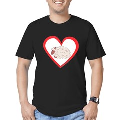 Sheep Heart Men's Fitted T-Shirt (dark)