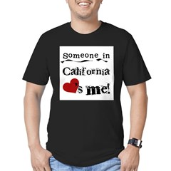 Someone in California Men's Fitted T-Shirt (dark)