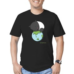 : 'Tapir on World' Men's Fitted T-Shirt (dark)