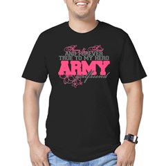 Strong&Sweet Army Girlfriend Men's Fitted T-Shirt (dark)