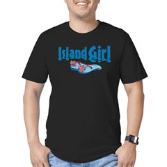 Island Girl 2 Men's Fitted T-Shirt (dark)