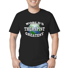 WORLD'S GREATEST THERAPIS Men's Fitted T-Shirt (dark)