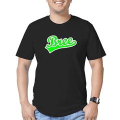 Retro Bree (Green) Men's Fitted T-Shirt (dark)