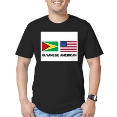 Guyanese American Men's Fitted T-Shirt (dark)