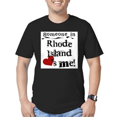 Someone in Rhode Island Men's Fitted T-Shirt (dark)