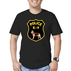 K9 Police Officers Men's Fitted T-Shirt (dark)