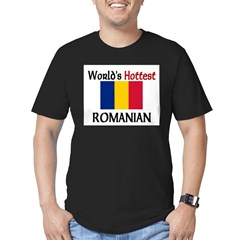 World's Hottest Romanian Men's Fitted T-Shirt (dark)
