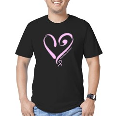 Breast Cancer Men's Fitted T-Shirt (dark)