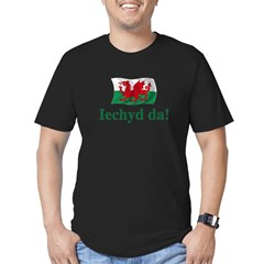 Wales Iechyd da Men's Fitted T-Shirt (dark)