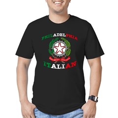 Philadelphia Italian Men's Fitted T-Shirt (dark)