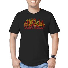 Dragon Ninja Science Teacher Men's Fitted T-Shirt (dark)