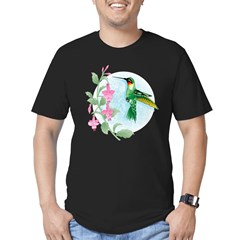 FUCIA HUMMINGBIRD Men's Fitted T-Shirt (dark)
