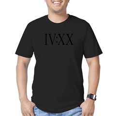 420 Roman Numerals BW Men's Fitted T-Shirt (dark)