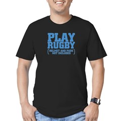 No Pads in Rugby Men's Fitted T-Shirt (dark)