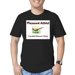 Pheasant Addic Men's Fitted T-Shirt (dark)