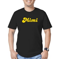 Retro Mimi (Gold) Men's Fitted T-Shirt (dark)