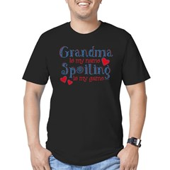 Spoiling Grandma Men's Fitted T-Shirt (dark)