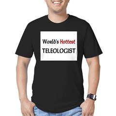 World's Hottest Teleologis Men's Fitted T-Shirt (dark)
