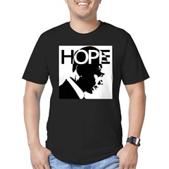 HOPE Obama Men's Fitted T-Shirt (dark)