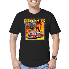 LADDER TRUCK Men's Fitted T-Shirt (dark)
