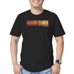 Grand Haven, Michigan Men's Fitted T-Shirt (dark)