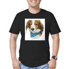 Kooikerhondje Men's Fitted T-Shirt (dark)