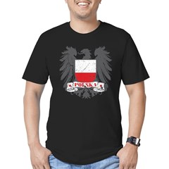 Polska Shield Men's Fitted T-Shirt (dark)