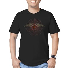 Vintage Flying Star Men's Fitted T-Shirt (dark)