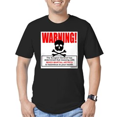 WARNING MMA Men's Fitted T-Shirt (dark)