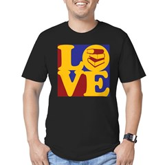 Library Work Love Men's Fitted T-Shirt (dark)