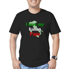 I Love My Italian Papa Men's Fitted T-Shirt (dark)