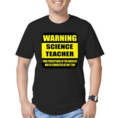 Warning science teacher Men's Fitted T-Shirt (dark)