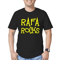 Rafa Rocks Tennis Design Men's Fitted T-Shirt (dark)