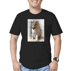 RoughCollie00002.jpg Men's Fitted T-Shirt (dark)