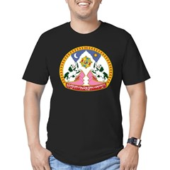 Tibet Emblem Men's Fitted T-Shirt (dark)