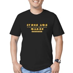 Stone Age Gamer Men's Fitted T-Shirt (dark)
