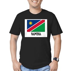 Namibia Flag Men's Fitted T-Shirt (dark)