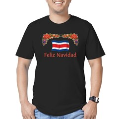 Costa Rica Feliz Navidad 2 Men's Fitted T-Shirt (dark)