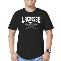 Lacrosse Arc Men's Fitted T-Shirt (dark)