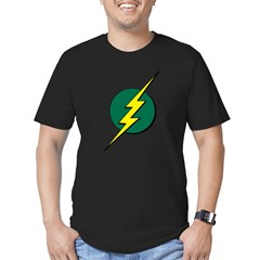Jamaican Bolt 1 Men's Fitted T-Shirt (dark)